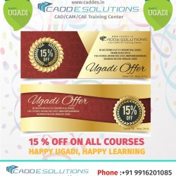 ugadi offer 15% off cadd e solutions